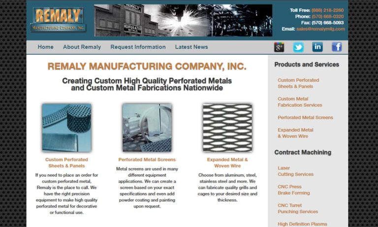 Remaly Manufacturing Company, Inc.